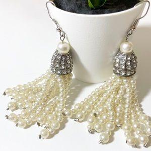 ❤️ 3/20 Pearl Tassel Dangle Earrings